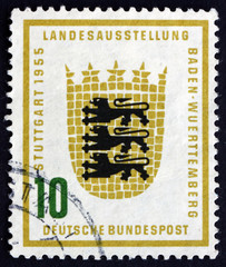 Postage stamp Germany 1955 Arms of Baden-Wurttemberg