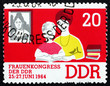 Postage stamp GDR 1964 Woman as Educator