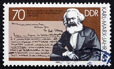 Postage stamp GDR 1983 Karl Marx, Portrait