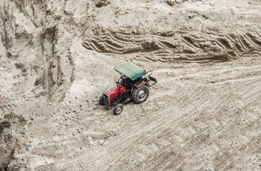 Tractor at construction site
