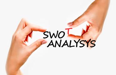 Swot analysis concept