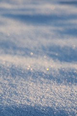 snow surface close-up