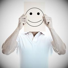 Mann mit freundlichem Smiley Gesicht
