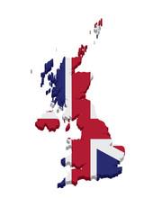 United Kingdom Flag Map