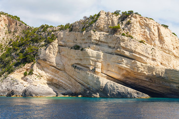 Keri caves on Zakynthos island, Greece