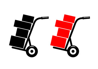 Hand truck on white background