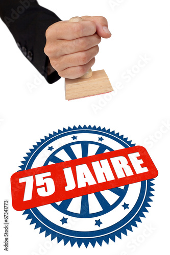 Stempel 75 Jahr bunt Poster