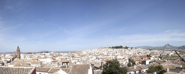Vista panorámica de la ciudad de Antequera,Andalucía.España