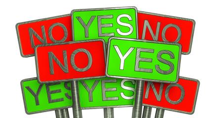 YES vs NO