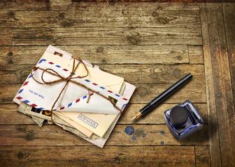 Nostalgic airmail letters