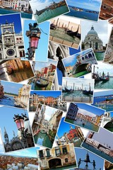 Collage of landmarks in Venice, Italy