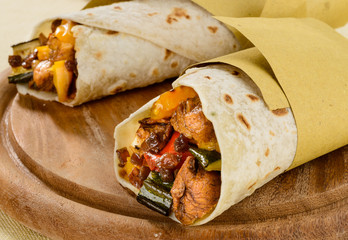 Tortilla messicane, close-up
