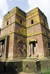 Rock-hewn church of St. George, Lalibela (Ethiopia)