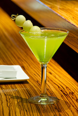 Green Melon Martini Cocktail