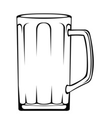 Big empty beer mug vector