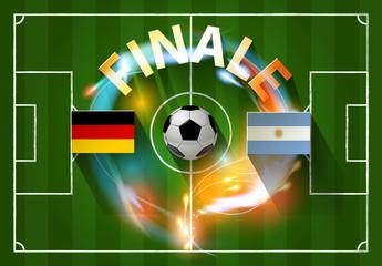 Fußball FINALE Argentinien vs. Deutschland Weltmeister