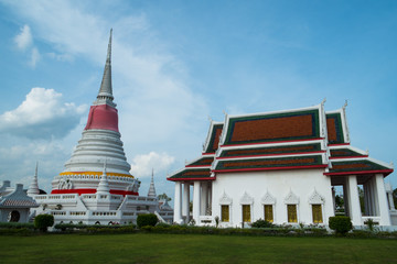 Temple and Pagada in Thailand