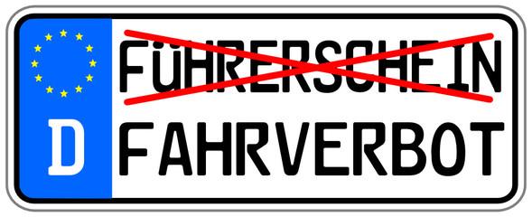 Führerschein Fahrverbot  #140710-svg02
