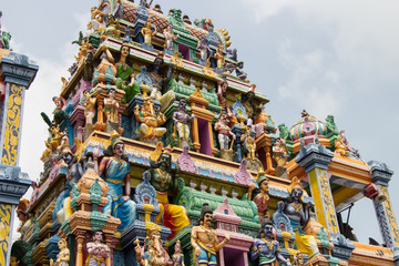Hindu temple, gods and demons, Sri Lanka