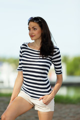 Stock image woman in contemporary clothing