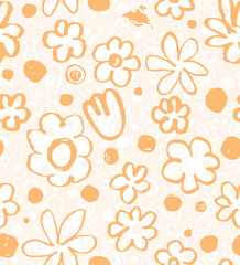 Simple floral background. Orange yellow.