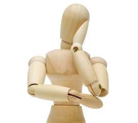 頬杖をつく人形