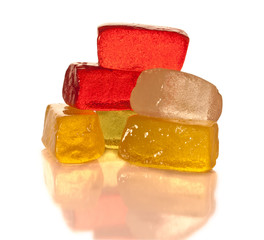 Vibrant gummy candies