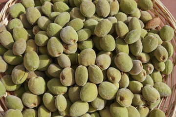 Italy, Sicily, fresh almonds