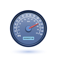 Speedometer icon isolated on white background