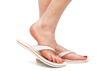 female foot in sandal