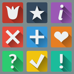 Set of stylish colorful icons