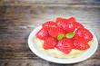 tartlet with strawberries