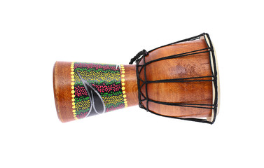 Djembe Drum Tam-Tam. Isolated On White Background