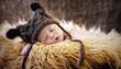 Leinwanddruck Bild - Sleeping Baby