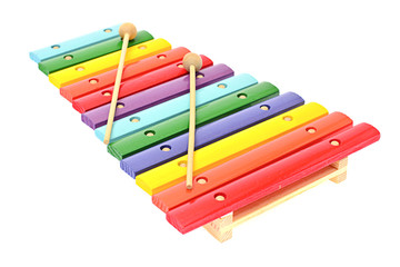 Xylophone Isolated on White Background