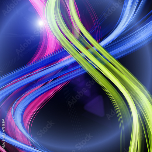 canvas print picture futuristic wave background design with lights