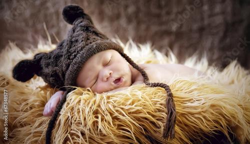 Leinwanddruck Bild Sleeping Baby