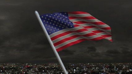 United States Flag Animation