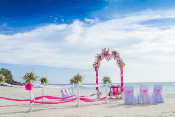 wedding arch on beach