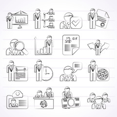 Human resource and employment icons - vector icon set