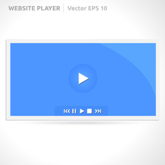 Website video player