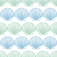 Abstract seashels stripes seamless pattern background