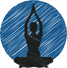 Yoga Logo Silhouette Icon