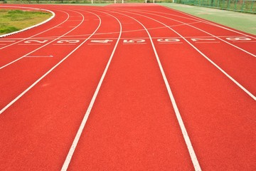 Running tracks of athletics