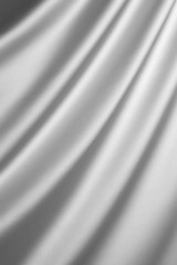 Silver silk textile background