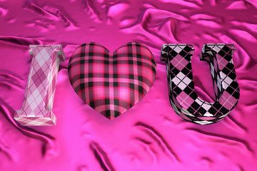 I Love You Pink Plaid