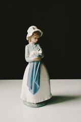Porcelain Girl & Dog Figurine