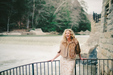 Happy Vintage Bride at McConnell's Mill