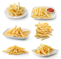 Frenchfries isolated on white background