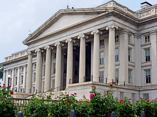 classical architecture, US Treasury Department building